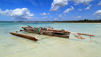 Boat on the beach of Zanzibar