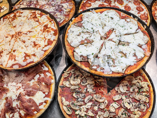 authentic Italian homemade vegetable pizza
