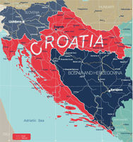 Croatia country detailed editable map