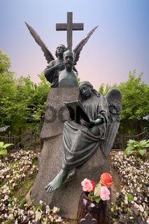 St. Petersburg Russia. Tikhvin Cemetery. The grave of Pyotr Ilyich Tchaikovsky