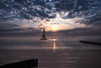 sailing the baltic sunset