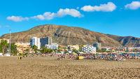Beach in Los Cristianos in Tenerife