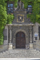 Detailed view of Quedlinburg town hall