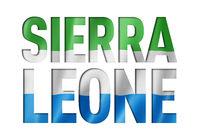Sierra Leone flag text font