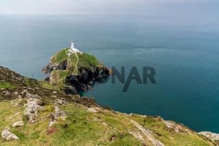 South Stack Lighthouse, near Holyhead, Anglesey, Gwynedd, Wales, UK