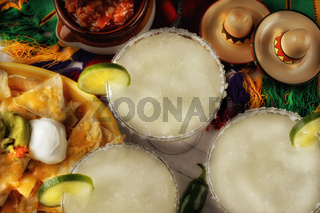 Three Margaritas and Nachos