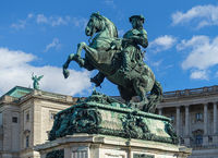 Statue on the Heldenplatz in Vienna, Austria