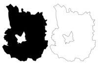 Daugavpils Municipality (Republic of Latvia, Administrative divisions of Latvia, Municipalities and their territorial units) map vector illustration, scribble sketch Daugavpils map