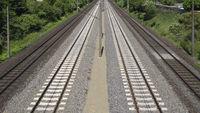 Four-track railway line, Germany