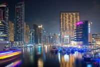 View of the region of Dubai - Dubai Marina is an artificial canal city, Dubai, UAE