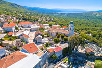 Historic town of Bribir in Vinodol valley aerial view