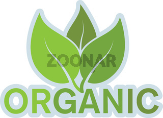 organic product or food logo with leaves