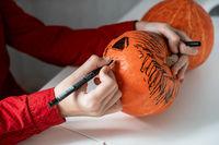 Halloween carnival or masquerade concept