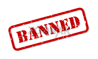 Banned Rubber Stamp Vector
