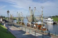 Fishing boats at the harbor of Greetsiel