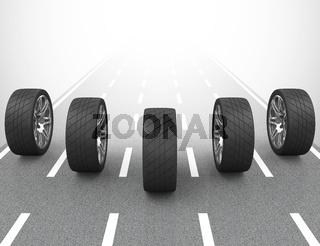 the car tires