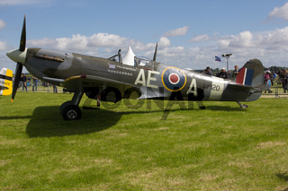 Oostwold, Netherlands May 25, 2015: Spitfire City of Winnipeg Oostwold Airshow