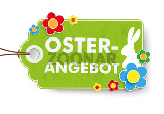 Green Easter Offer Price Sticker