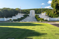 National Memorial Cemetery of the Pacific in the punchbowl crater on Oahu