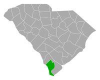 Karte von Jasper in South Carolina - Map of Jasper in South Carolina