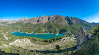 Panoramic view of Guadalest reservoir in Alicante, Spain