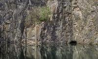 Flooded slate mining