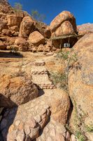 landscape behind White lady paintings in Namibia