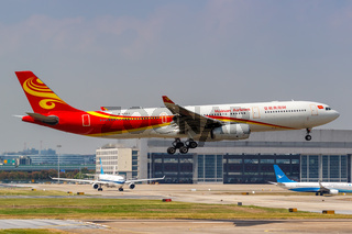 Hainan Airlines Airbus A330-300 Flugzeug Flughafen Shanghai Hongqiao in China