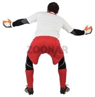 Goalkeeper with arms ready to catch