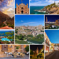 Collage of Spain images
