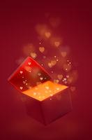 Magic box with love gift