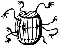 Barrel Ghost Line Drawing