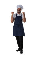Male cook holding fists