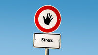 Street Sign to Wellness versus Stress