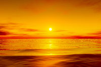 beautiful golden ocean sunset
