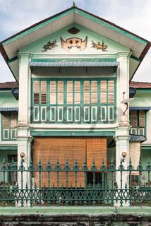 Haus in der Muntri Street als Teil des UNESCO-Weltkulturerbes in George Town