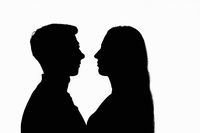 Images of two people right in front of each other