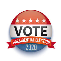 Vote Presidential Election USA Button