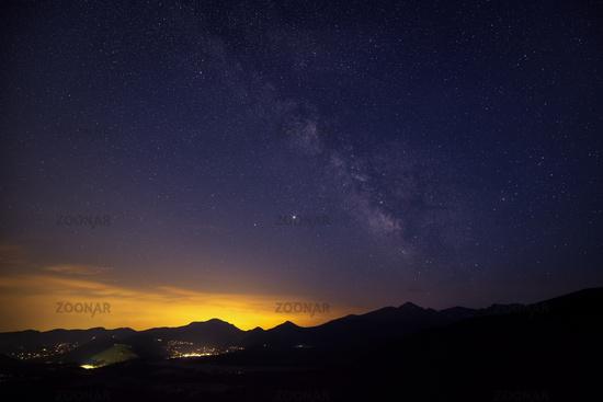 The Milky Way over Estes Park, Colorado, USA