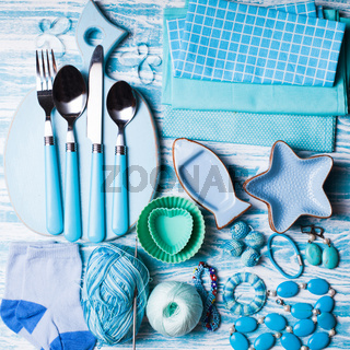Blue objects