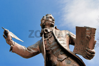 Statue of Thomas Paine Author of Rights of Man in Thetford Norfolk