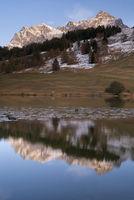 Evening at lake Taraspsee