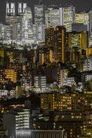 Shinjuku at night (taken from Bunkyo Civic Center)