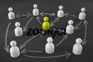business network as graphics element - Illustration