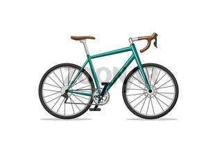Illustration of a racing bike