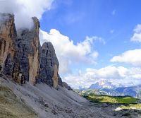 north side of the massif of the Three Peaks of Lavaredo