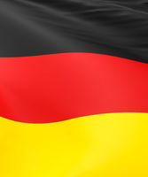 3d render of the flag of Germany using as background