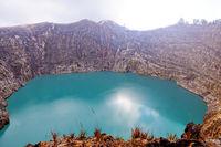 Crater lake of the volcano Kelimutu-Tiwu Ata Polo- Flores Indonesia