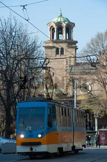 Street Scenes of Downtown Sofia, Bulgaria, Europe,