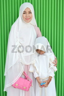 Mother and daughter Muslims